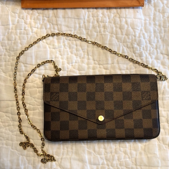 7a3d6a19c04d Louis Vuitton Handbags - Louis Vuitton Pochette Félicie in Damier Ebene